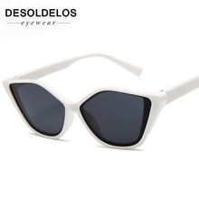 DesolDelos Cat Eye Sunglasses Sun Glasses Women Men Metal Frame Shade Female Eyewear Eyeglasses Color Clear  Lens UV400