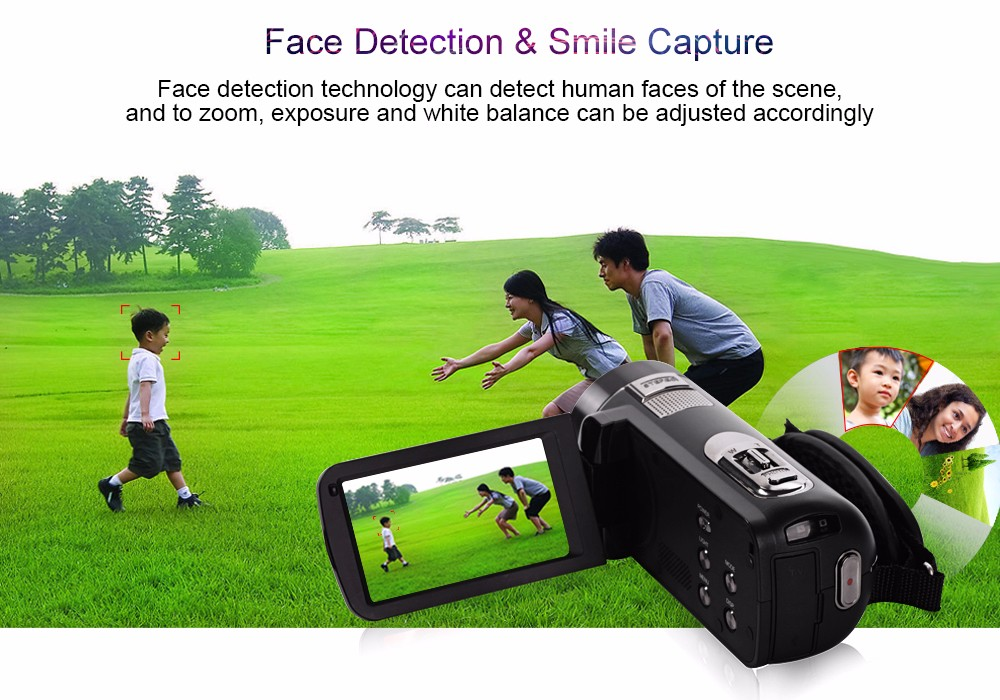 """Ordro Camcorder HDV-Z8 Plus 1080P FHD Digital Video Camera 3.0"""" LCD Touch Screen with Remote Control USB Port HDMI Output 10"""