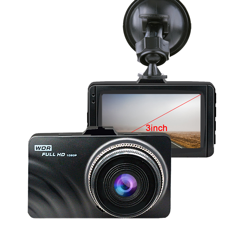 New Car DVR Car Camera FHD 1080P at 30 fps built-in 6 layer lenses 3.0 inch Portable Video Recorder HD Screen USB Car Dash Cam