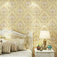 Luxury 3D European Style Damascus Three Dimensional Wallpaper Villa Green Carved Background Wallpaper Bedroom Full Of