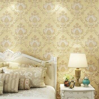 beibehang Luxury European-style three-dimensional wallpaper villa green carved background wallpaper bedroom full of restaurant