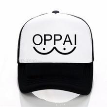 One Punch Man Hero Saitama Oppai baseball cap Casual Adjustable mesh hat Unisex sports trucker