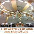 Горячая продажа 1 4 м x 10 м драпировка крыши ткань потолок драпировка навес занавески для свадебного события украшения