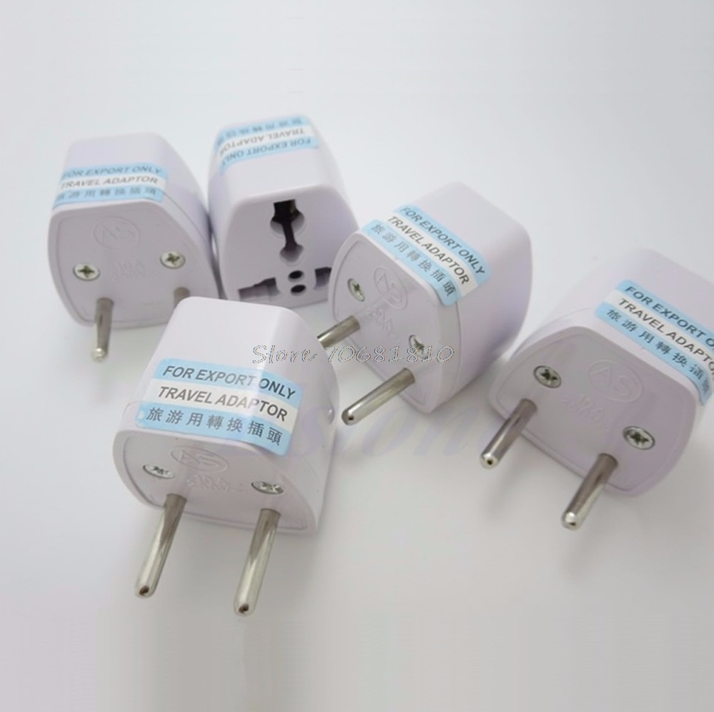 Universal Travel USA AU <font><b>CN</b></font> <font><b>to</b></font> European <font><b>EU</b></font> AC <font><b>Plug</b></font> Power Adapter Converter 250V image