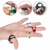 1pcs 휴대용 다기능 전술 손가락 반지 오프너 야외 edc 도구 선물에 대 한 스테인레스 스틸 매직 반지
