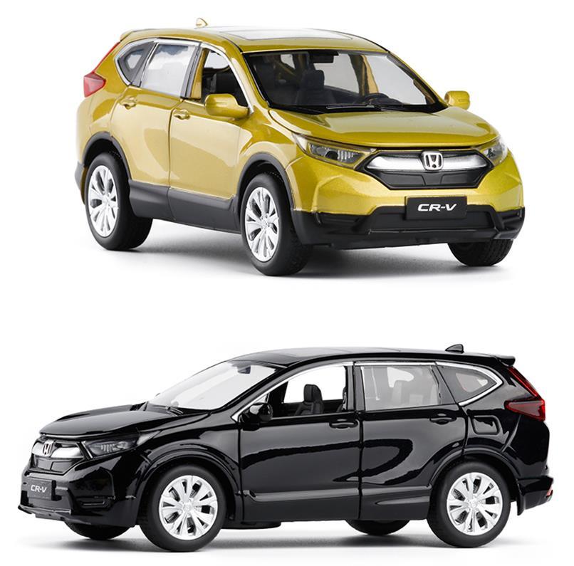 Haute simulation 1:32 échelle retirer Honda CRV voiture en alliage, 6 porte ouverte musique flash voiture modèle jouets, métal moulé sous pression, livraison gratuite