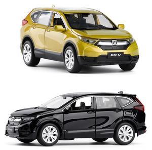 Image 1 - Yüksek simülasyon 1:32 ölçekli geri çekin Honda CRV alaşım araba, 6 açık kapı müzik flaş araba model oyuncaklar, metal döküm, ücretsiz kargo