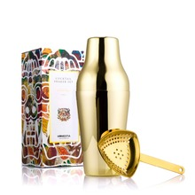 Gold 650ml Cocktail Shaker With Ice Strainer