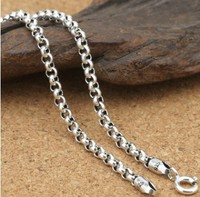 silver necklace custom necklace chokers necklaces for women 3mm long necklaces 80cm