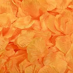 1000 шт./лот, лепестки роз, свадебные, искусственные шелковые цветы, украшения, свадебные, вечерние, цветные, 40 цветов, RP01 - Цвет: orange