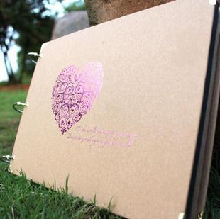 10 pulgadas DIY album scrapbook corazón serie Arte de papel DIY álbumes de fotos hechos a mano para el amante de la boda scrapbooking 10 páginas