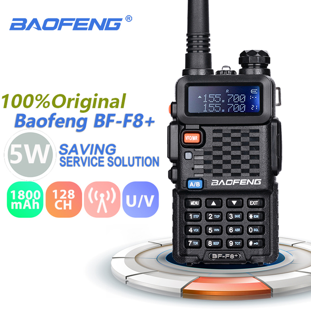 Baofeng BF F8+ Walkie Talkie Professional Dual Band VHF UHF Two Way Radio Station Woki Toki Transceiver F8 Ham Radio Comunicador