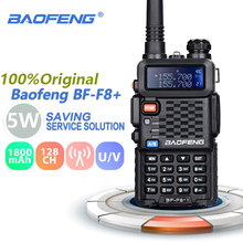 Baofeng BF F8 + 워키 토키 전문 듀얼 밴드 vhf uhf 양방향 라디오 방송국 woki toki 송수신기 f8 햄 라디오 comunicador