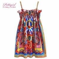 Girls Summer Dresses New Design Slip Princess Party Dress Kids Clothes Toddler Girls Costumes GD90124-538F