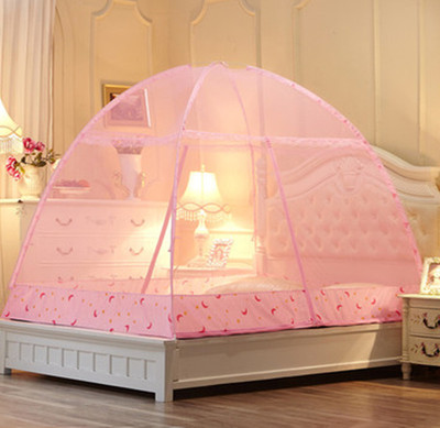 Yurt folding zipper reprint double wire 1.5m / 1.8m bed nets Magic Crib