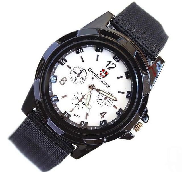 Man women watch Gemius Army Racing Force Military Sport Men Officer Fabric Band