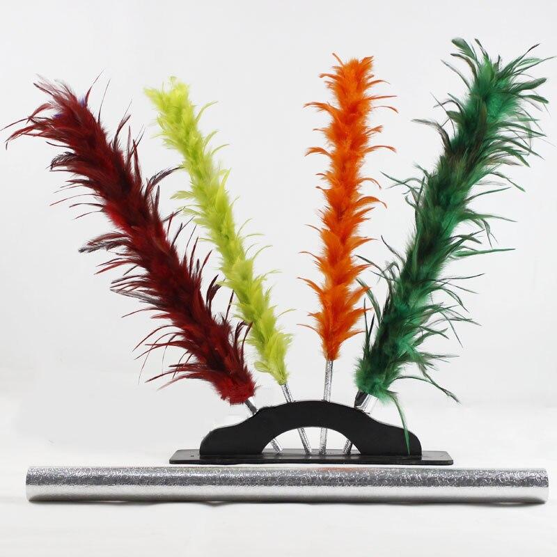 Changement de couleur plumeau baguette apparaissant changement de couleur fleur tours de magie magicien scène Illusion Gimmick accessoires comédie Magia