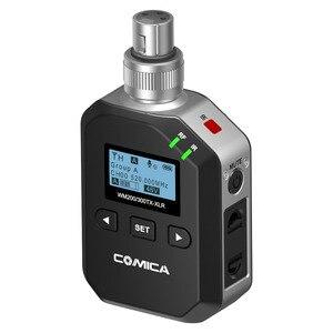 CoMica беспроводной проводной передатчик XLR с 96 каналами, автоматическое сканирование, 30-60 м, дальность действия 48 В, фантомная мощность, 300-XLR, UHF
