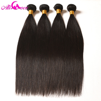 Ali Coco Brazilian Straight Hair 4 Bundles Deal 100% Human Hair Bundles No Remy Hair Weave 8-28 inch Natural Color