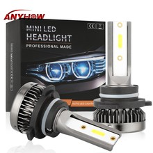 2PCS Car Headlamp Bulbs H7 LED 110W 8000LM Mini H1 LED H4 H11 H8 H9 Headlamps Kit 9005 HB3 9006 HB4 Mini Auto LED Lamp Bulbs(China)