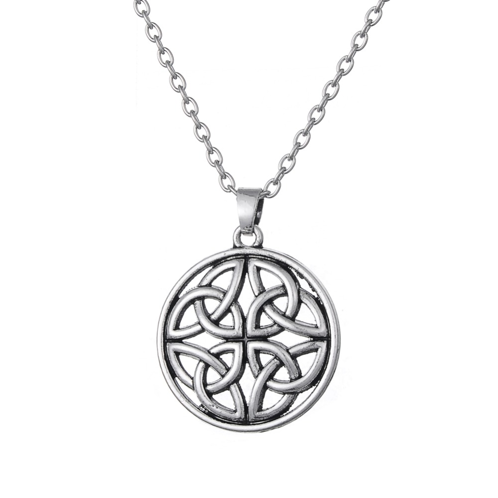Dawapara Knot round pendant circle necklace collares mujer steampunk jewelry