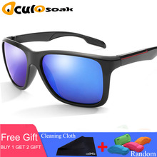 Polaroid sunglasses Unisex Square Vintage Sun Glasses Famous Brand Sunglases polarized Sunglasses Mirror For Women Men with box