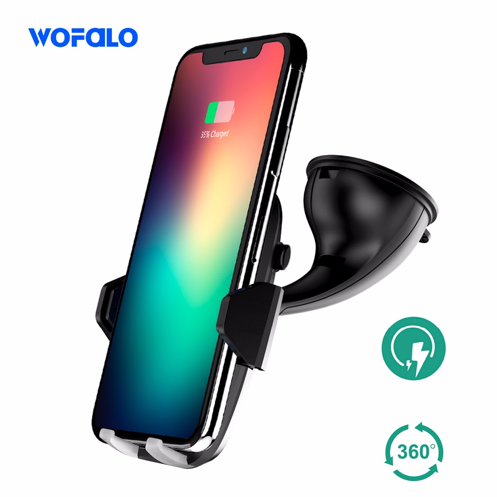 fast qi wireless car quick charger wireless charger stand car mount for samsung galaxy s6 s5 s7 s9 edge s8 plus iphone X 8plus