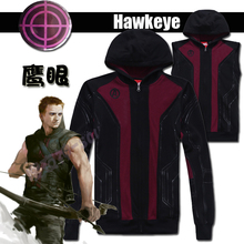 [Stock]High quality Plus size Marvel Comic The Avenger figure Hawkeye Clinton cosplay hoodie jacket Unisex Coat free shipping