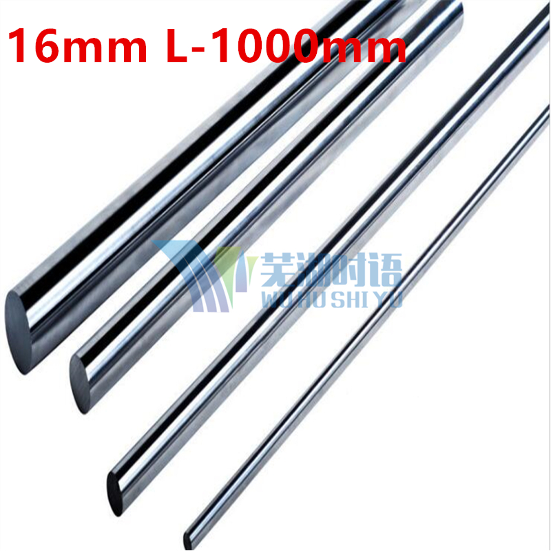 Linear shaft 16mm L-1000mm linear round shaft harden rod chrome plated rod for 16mm linear block cnc parts диски helo he844 chrome plated r20