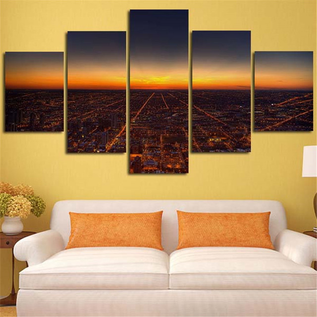 Colorful City Wall Art Canvas Model - All About Wallart - adelgazare ...