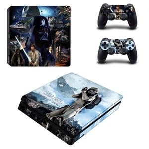 Image 3 - Film Star Wars PS4 Slim Haut Aufkleber Aufkleber Vinyl für Playstation 4 Konsole und 2 Controller PS4 Slim Haut Aufkleber