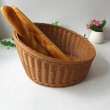 European Bread Box Decoration Storage Basket Creative Snacks Candy Fruit Basket Bread Basket Rattan Bread Box Storage Box