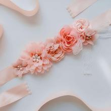 Дизайн невесты пояс кружево, цветок, Роза свадебный пояс аксессуары для платья
