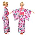 1 pcs Fashion Doll Clothes Traditio Japanese Kimono Dress Outfit For Barbie Doll