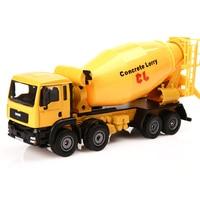 KAIDIWEI Scale 1:50 Agitating Lorry Toy Truck Alloy Cement Concrete Mixer Trucks Collection Kids Toys Gift