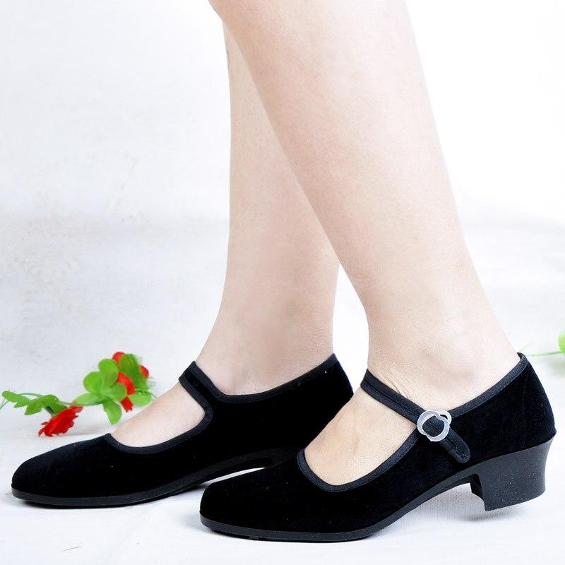 Comfortable Ladies Low Heel Shoes Dance Shoes Hotel Work Shoes Tacones Mujer Zapatos De Mujer Balenciaca Shoes