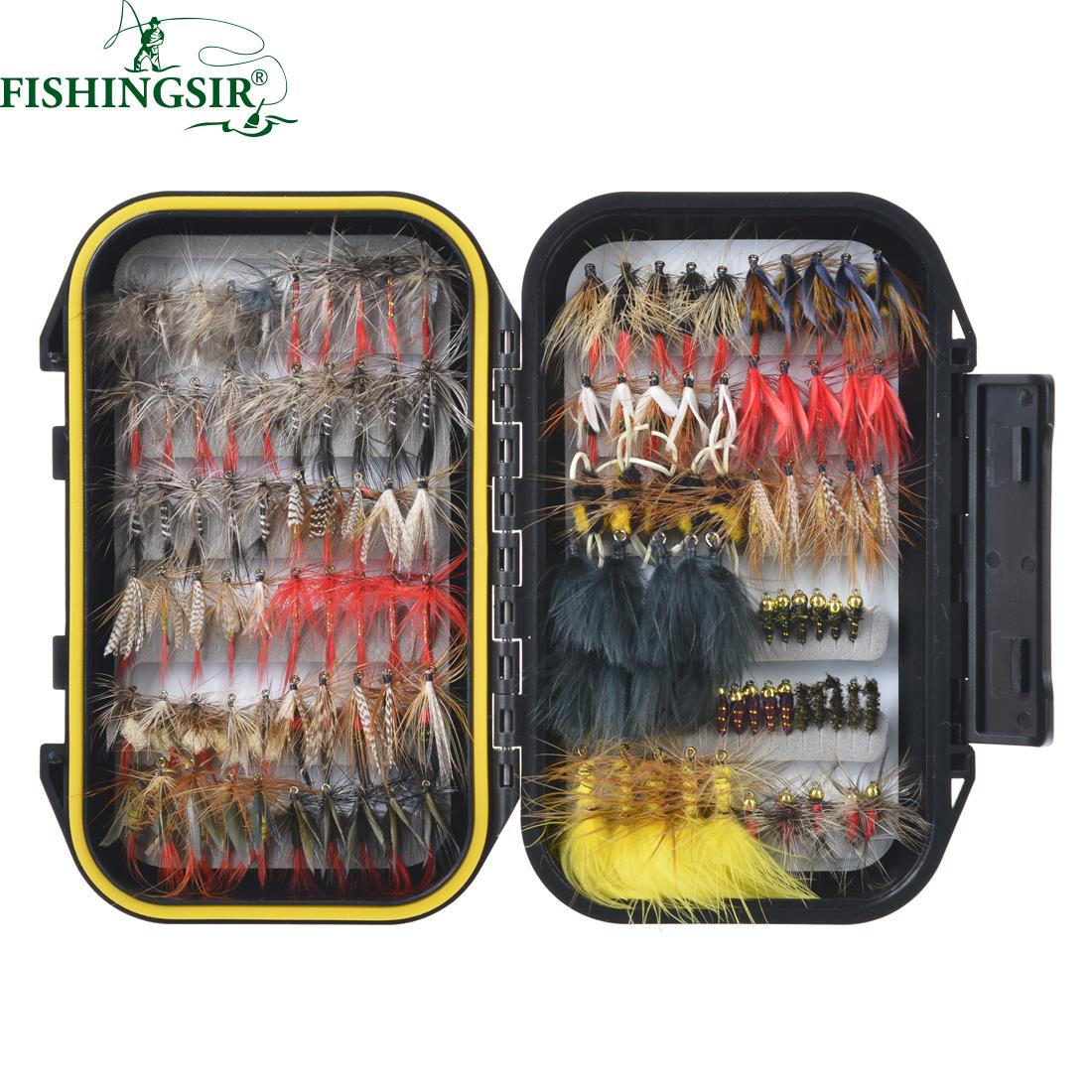 64/100/120 UNIDS Materiales de atado de Moscas de Pesca Con Mosca Señuelo Dry/We