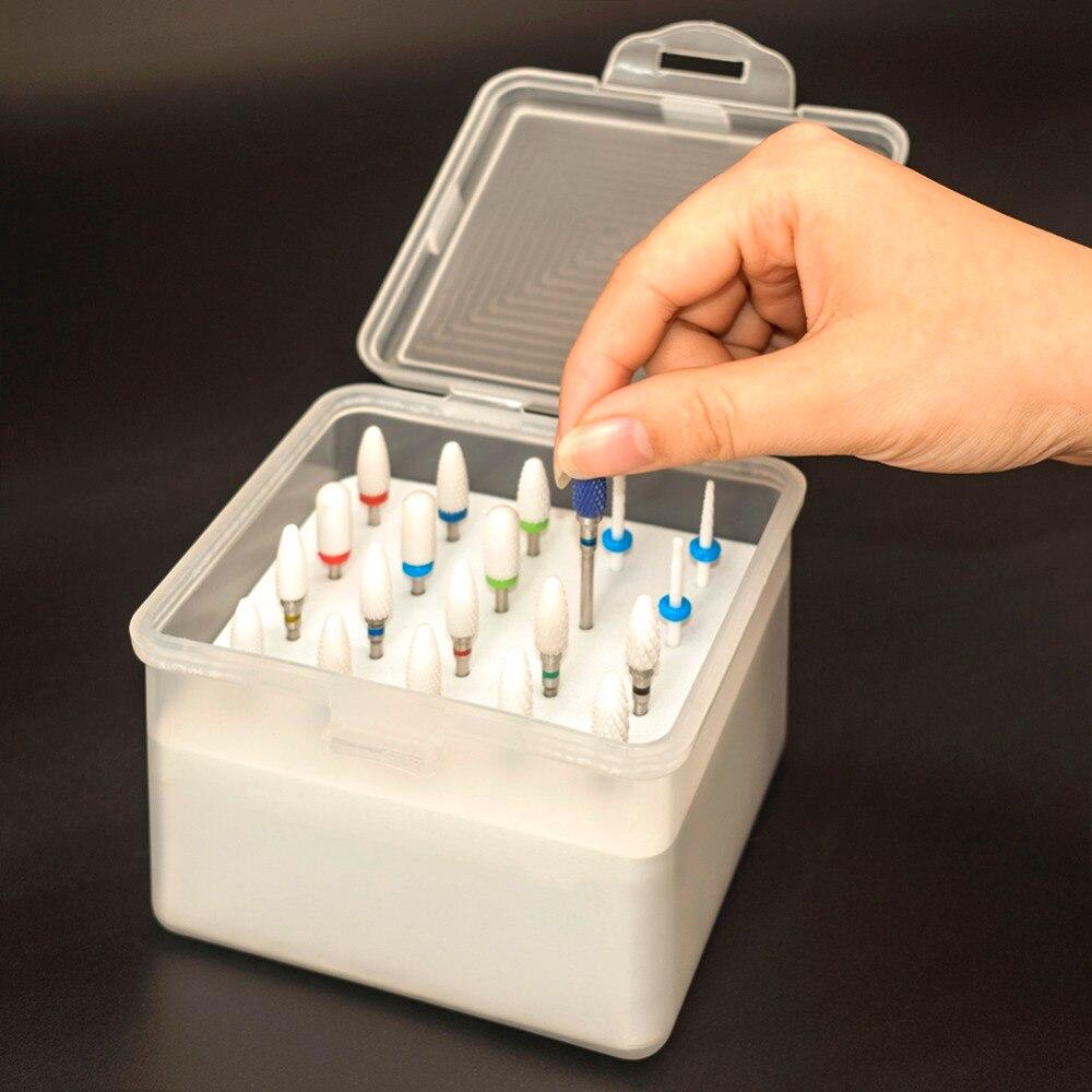 White Ceramic Nail Drill Bits Milling Cutter For Electric Drill Manicure Machine Accessory Remove Gel Varnish Cuticle