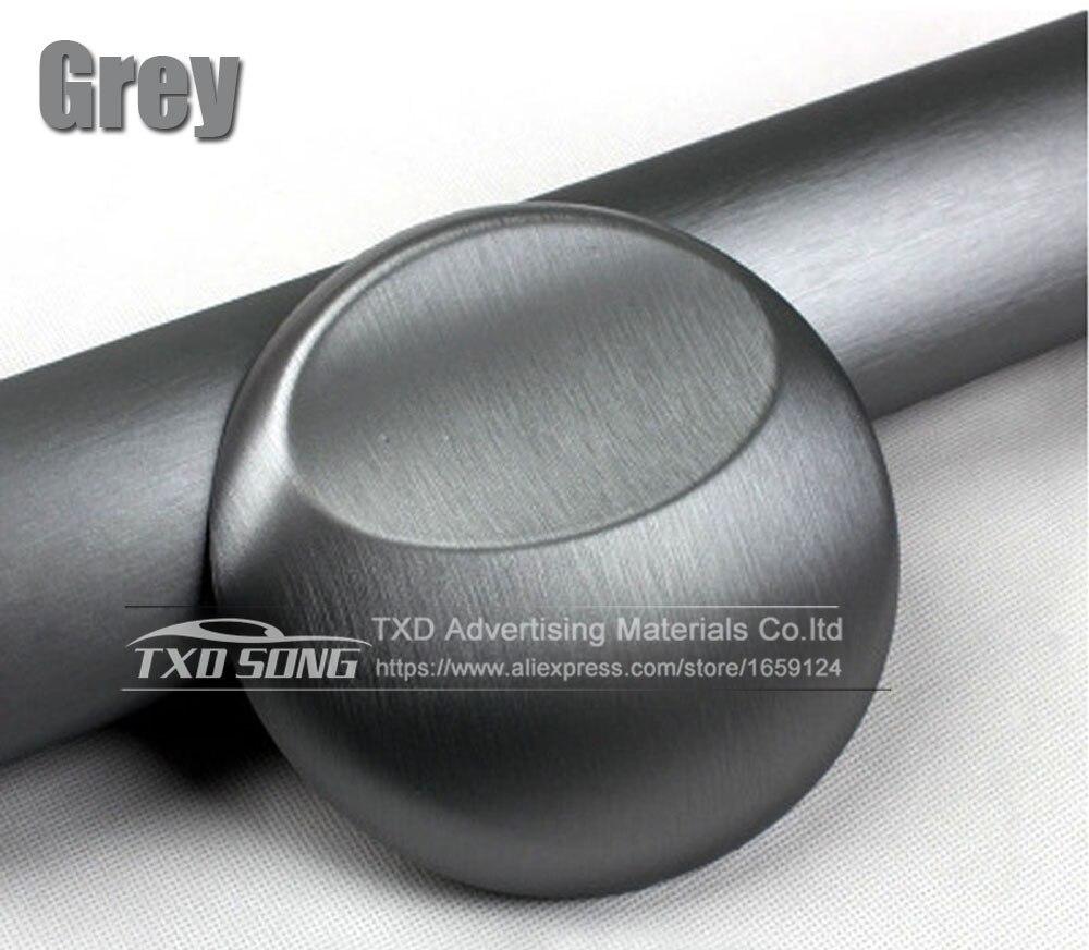 Хорошее качество, хромированная металлическая матовая алюминиевая виниловая металлическая виниловая пленка для отделки автомобиля, наклейка для стайлинга автомобиля, украшение из фольги - Название цвета: grey