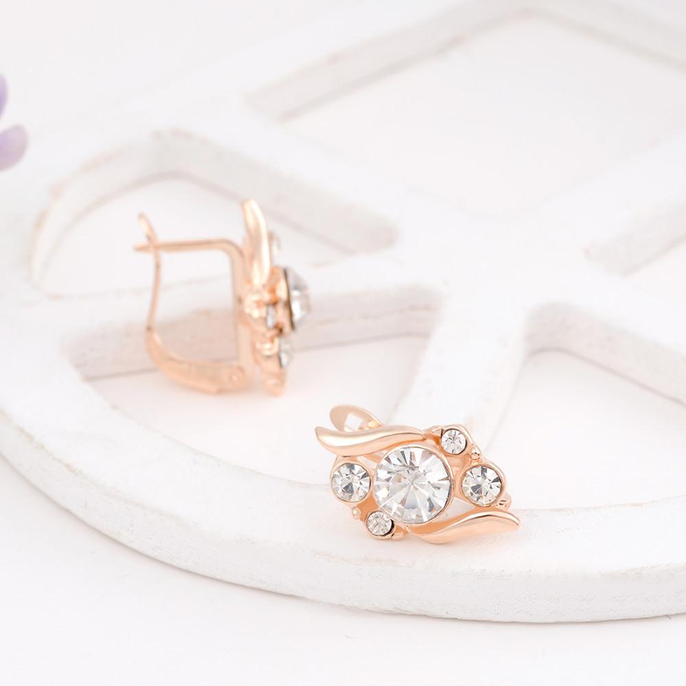 HTB1Jo2PGVXXXXX4XpXXq6xXFXXXJ 3-Pieces Rhinestone Studded Rose Gold Women Jewelry Gift Set