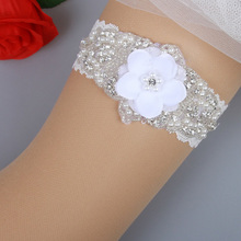 a32572f37 Good Bridal Garter Belt White Flower Wedding Garter Vintage Lace Pearls  Crystal Beads Garter for Big
