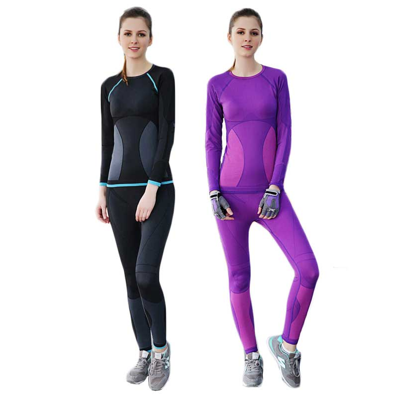 2018 Women Thermal Underwear Spring Autumn Winter Quick Dry Thermo Sporting Underwear Sets Female Fitness Gymming Long Johns