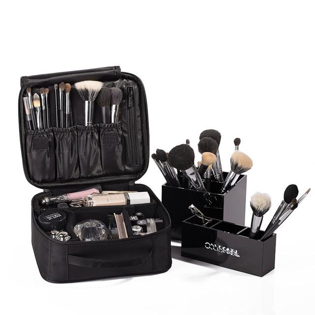 2016 nueva moda Coreana Sra. portátil de almacenamiento a prueba de agua bolsas de cosméticos de Maquillaje Organizador Caja De Almacenamiento Caso de La Belleza