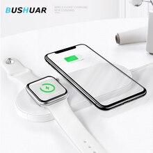 10 Вт QI Беспроводное зарядное устройство для iPhone X XS MAX 8 plus Быстрая зарядка 2 в 1 настольное зарядное устройство для apple watch 4 3 samsung S10 S9