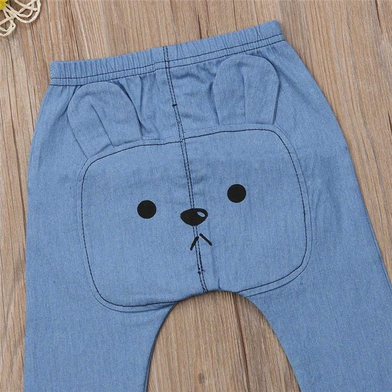 Śliczne spodnie dla niemowląt moda dla niemowląt chłopcy dziewczęta spodnie dżinsowe nadruk zwierzęta długie spodnie spodnie dla dzieci spodnie dziecięce legginsy dziecięce