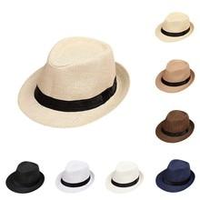Bebé sombrero de verano niños verano playa sombrero de paja de Jazz Panamá  Trilby sombrero Fedora 6e163ff21a2