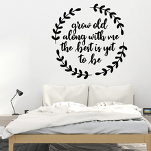 Fashion grow old Wall Sticker Home Decoration Accessories Pvc Decals Diy