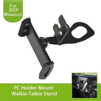 Suporte de suporte de aço inoxidável do carro pc interphone suporte de montagem walkie-talkie suporte para jeep jk wrangler & ilimitado 2007-2018