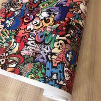 Stickerbomb Vinyl WRAP STICKER BOMB Film with Air Free Bubble For Vehicle Car Wrap Cover Decals 1.52X5/10/15/20/25/30m
