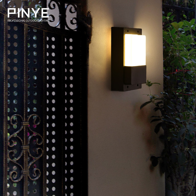 PINYE Europe LED Wall Lamps Waterproof Porch Lights Aluminum Courtyard Garden Light Corridor Outdoor Lighting Lamps PY008